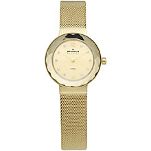 Buy Skagen 456SGSG Women's Mesh Bracelet Watch, Gold Online at johnlewis.com
