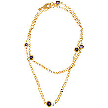 Buy Etrusca 18ct Gold Plated Bronze Double Chain Amethyst Bead Necklace, Gold/Purple Online at johnlewis.com
