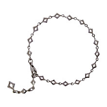 Buy Dinny Hall Solid Sterling Silver Almaz Bracelet, Silver Online at johnlewis.com