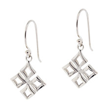 Buy Dinny Hall Solid Sterling Silver Almaz Small Drop Earrings, Silver Online at johnlewis.com