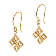 Buy Dinny Hall 18ct Gold Vermeil Almaz Small Drop Earrings, Gold Online at johnlewis.com