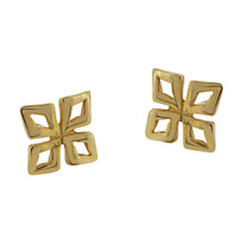 Buy Dinny Hall 18ct Gold Vermeil Almaz Small Stud Earrings, Gold Online at johnlewis.com