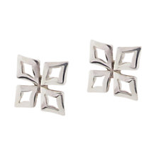 Buy Dinny Hall Sterling Silver Almaz Small Stud Earrings, Silver Online at johnlewis.com
