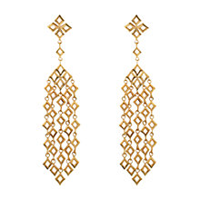Buy Dinny Hall 18ct Gold Vermeil Almaz Multi Drop Earrings, Gold Online at johnlewis.com
