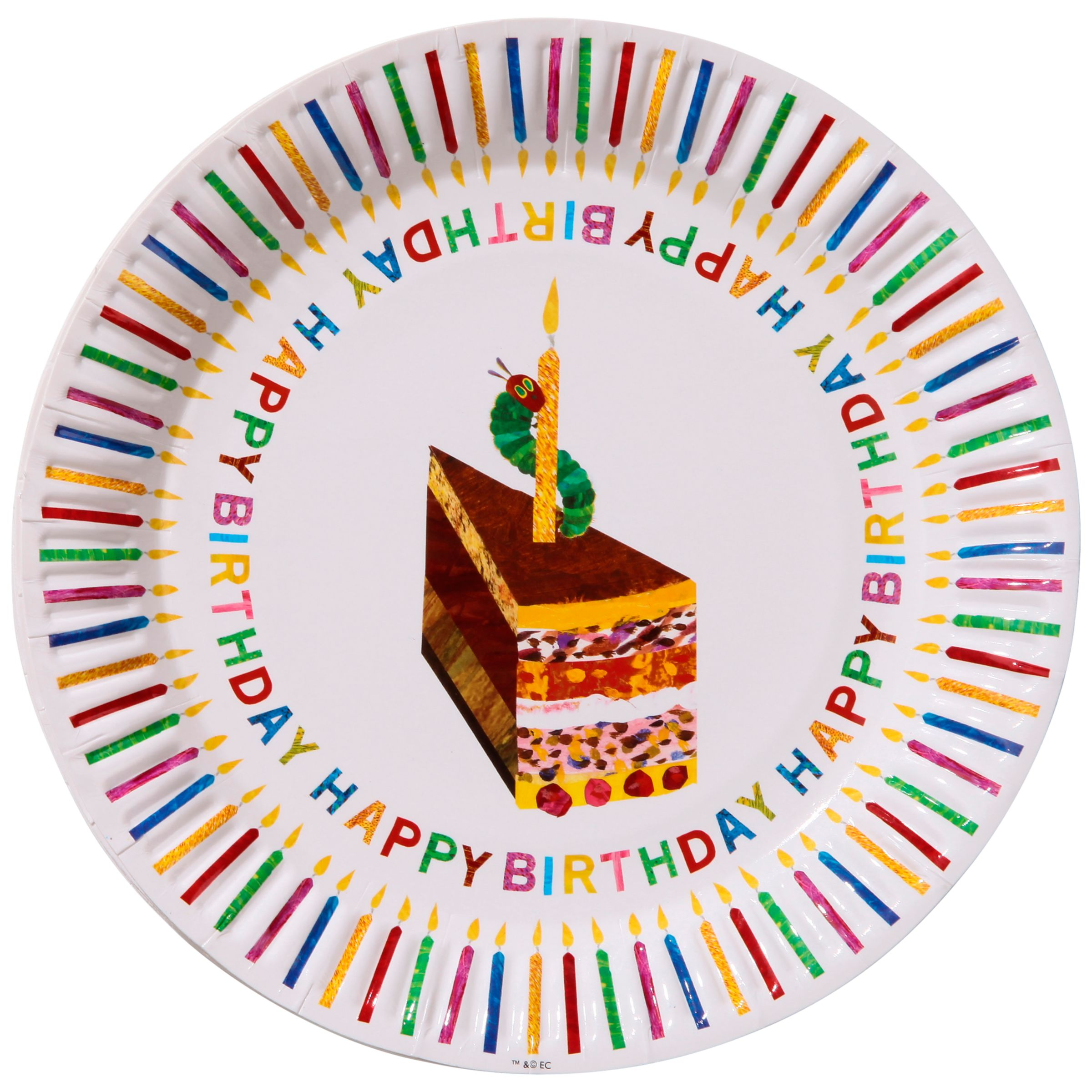 Hungry Caterpillar Birthday Plates, Pack of 8