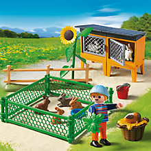 Buy Playmobil Bunny Enclosure Online at johnlewis.com