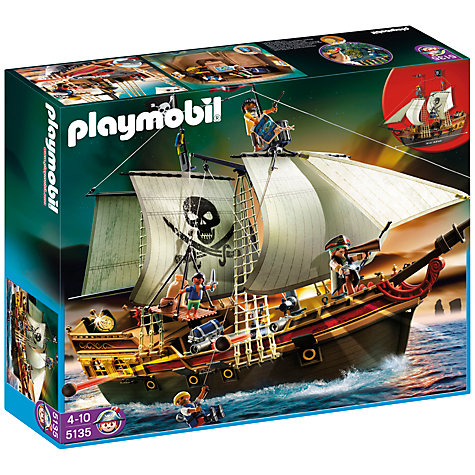 Buy Playmobil Pirates Pirates' Ship Online at johnlewis.com