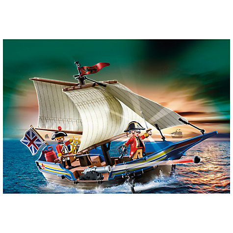 Buy Playmobil Pirates Redcoat Battle Ship Online at johnlewis.com