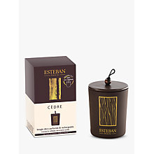 Buy Esteban Cedre Decorative Scented Candle, 150g Online at johnlewis.com