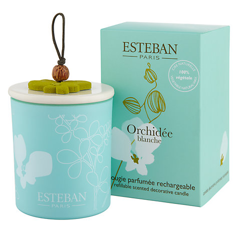 Buy Esteban Orchidée Scented Decorated Candle, 150g Online at johnlewis.com