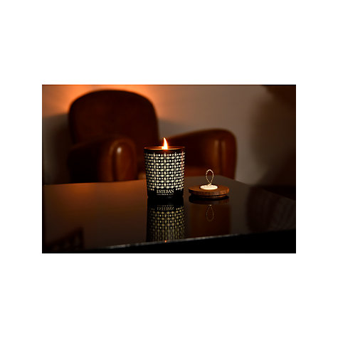 Buy Esteban Teck & Tonka Decorated Scented Candle, 150g Online at johnlewis.com