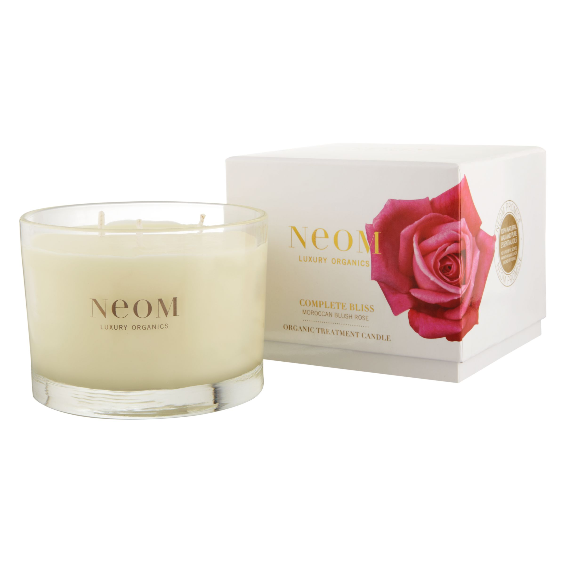 Neom Complete Bliss Moroccan Blush Rose Scented Candle