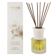 Buy Neom Real Lavender, Jasmine & Brazilian Rosewood Luxury Diffuser, 100ml Online at johnlewis.com