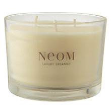 Buy Neom Real Luxury Lavender, Jasmine & Brazilian Rosewood Scented Candle, 3 Wick Online at johnlewis.com