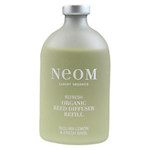 Buy Neom Refresh Diffuser Refill, Sicilian Lemon & Fresh Basil, 200ml Online at johnlewis.com