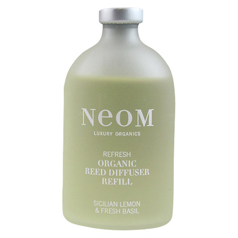 Buy Neom Refresh Diffuser Refill, Sicilian Lemon & Fresh Basil, 100ml Online at johnlewis.com
