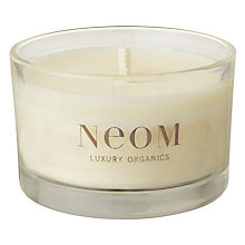 Buy Neom Refresh Sicilian Lemon & Fresh Basil Scented Travel Candle Online at johnlewis.com
