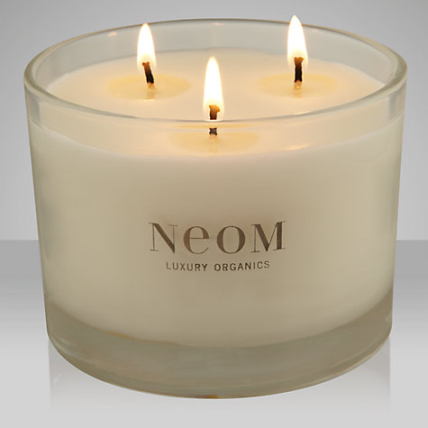Buy Neom Refresh Sicilian Lemon & Fresh Basil Scented Candle, 3 Wick Online at johnlewis.com