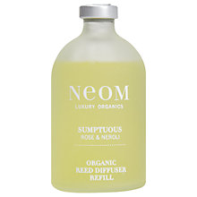 Buy Neom Sumptuous Diffuser Refill, Wild Rose & Neroli, 200ml Online at johnlewis.com