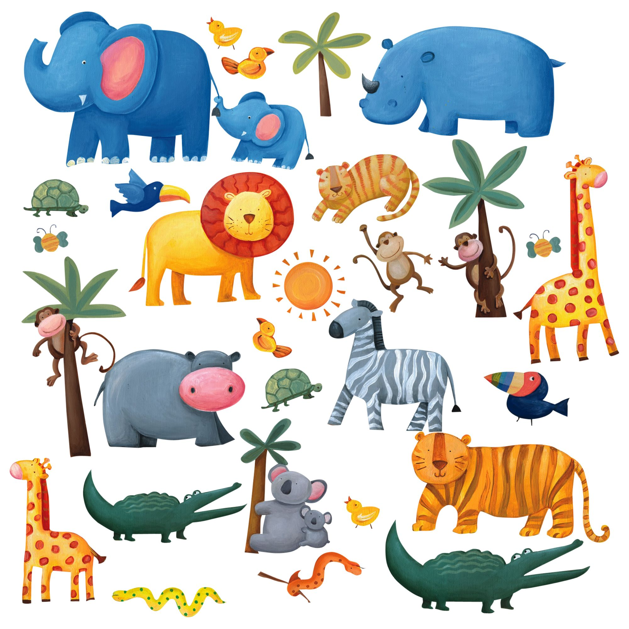 Jomoval Jomoval Jungle Adventure Wall Stickers