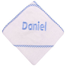 Buy My 1st Years Personalised Hooded Baby Towel, Blue Online at johnlewis.com
