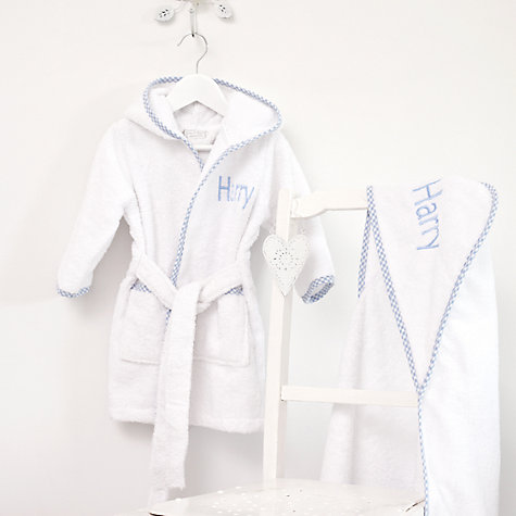 Buy My 1st Years Personalised Hooded Towel, Blue Online at johnlewis.com