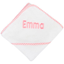 Buy My 1st Years Personalised Hooded Baby Towel, Pink Online at johnlewis.com