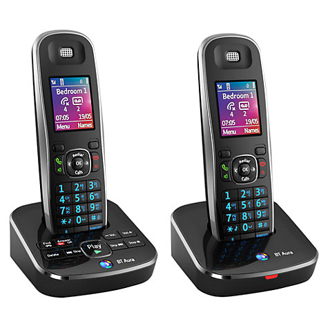 Buy BT Aura 1500 Digital Telephone and Answering Machine, Twin DECT Online at johnlewis.com