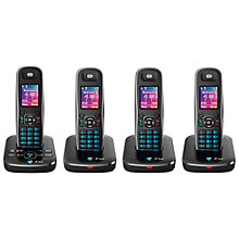 Buy BT Aura 1500 Digital Telephone and Answering Machine, Quad DECT Online at johnlewis.com