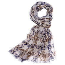 Buy Aquascutum Logo Club Check Scarf Online at johnlewis.com