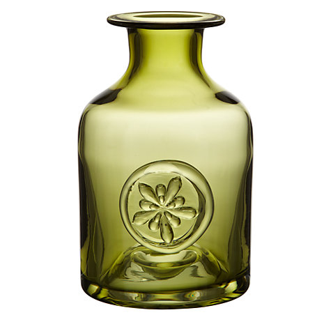 Buy Dartington Crystal Anemone Bottle Vase, Amethyst Online at johnlewis.com
