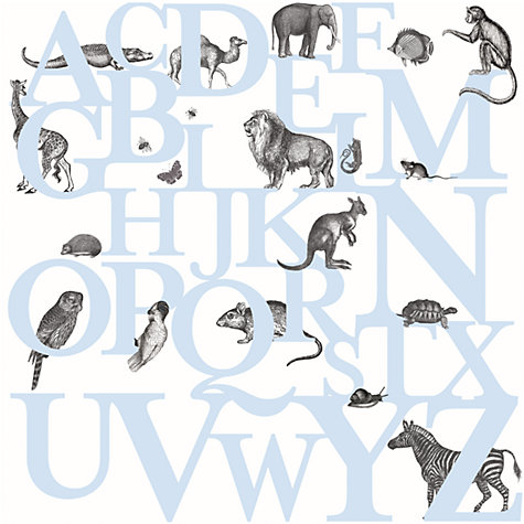 Buy Mr Perswall ABC You Wall Mural, Blue Online at johnlewis.com