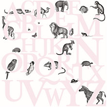 Buy Mr Perswall ABC You Wall Mural, Pink Online at johnlewis.com
