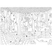 Buy Mr Perswall Jungle Dudes Wall Mural, Black / White Online at johnlewis.com