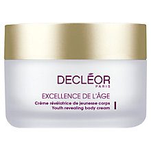 Buy Decléor Excellence de l'Age Youth Revealing Body Cream, 200ml Online at johnlewis.com