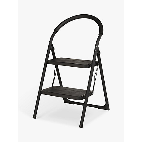 Buy John Lewis 2 Step Ladder, Black Online at johnlewis.com