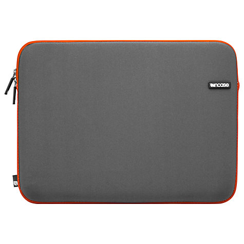 Buy Incase Neoprene 13-inch Laptop Sleeve, Grey and Orange Online at johnlewis.com