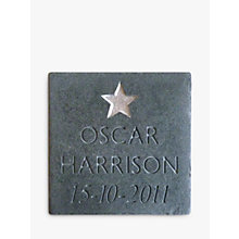 Buy Personalised New Baby Slate Online at johnlewis.com