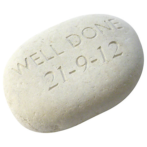 Buy Personalised 'Well Done' Sentiment Stone Online at johnlewis.com