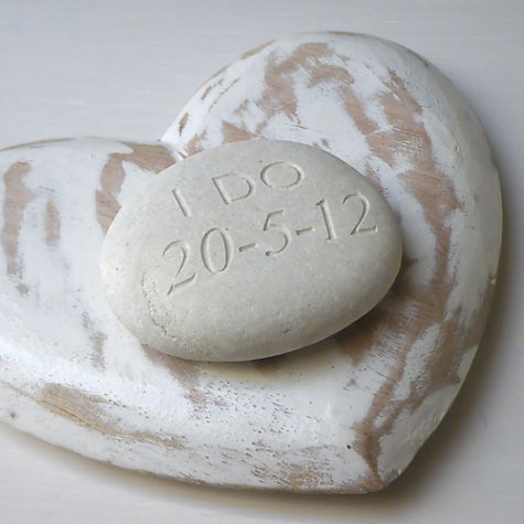 Buy Personalised 'I Do' Wedding Stone Online at johnlewis.com