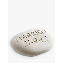 Buy Personalised 'Married' Wedding Stone Online at johnlewis.com
