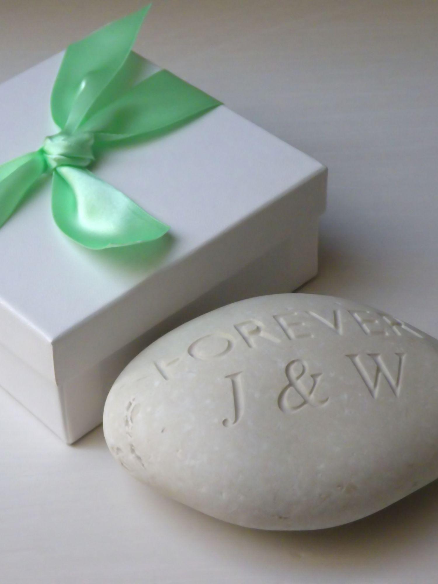 John Lewis Wedding Gift Box : Buy Personalised Mr & Mrs Wedding Stone Online at johnlewis.com