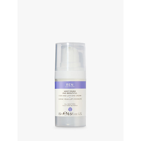 Buy REN Keep Young and Beautiful™ Firm and Lift Eye Cream, 15ml Online at johnlewis.com