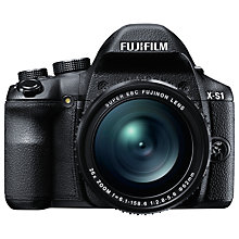 "Buy Fujifilm X-S1 Bridge Camera, HD 1080p, 12MP, 26x Optical Zoom, 3"" LCD Screen, Black Online at johnlewis.com"