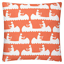 Buy Anorak Canoes Cushion, Orange Online at johnlewis.com