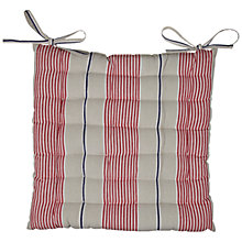 Buy John Lewis Coastal Stripe Seat Pad, Red Multi Online at johnlewis.com