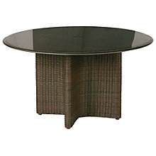 Buy Barlow Tyrie Savannah Round 6 Seater Synthetic Wicker Outdoor Dining Table Online at johnlewis.com