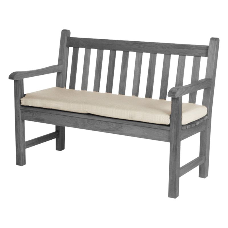 Barlow Tyrie 120cm Outdoor Bench Cushion, White Sand