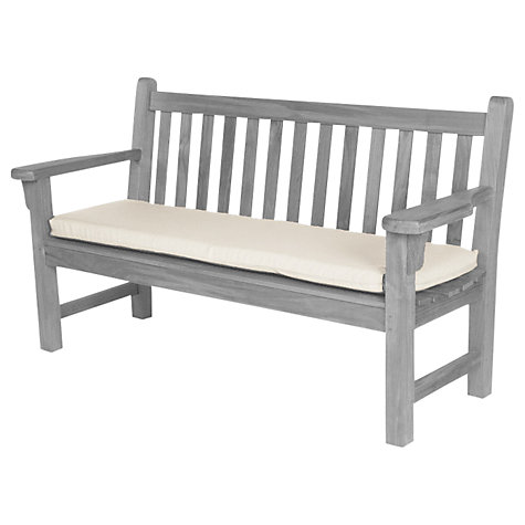 Buy Barlow Tyrie 150cm Outdoor Bench Cushion, White Sand Online at johnlewis.com