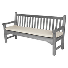 Buy Barlow Tyrie 180cm Outdoor Bench Cushion, White Sand Online at johnlewis.com